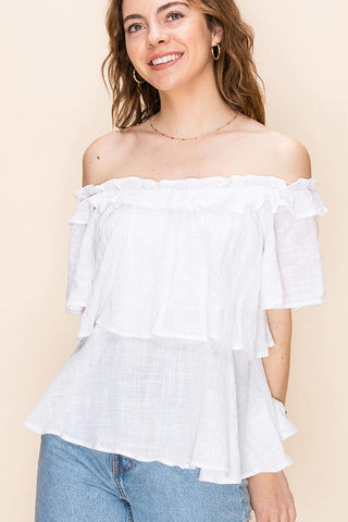 Off The Shoulder Ruffle Top
