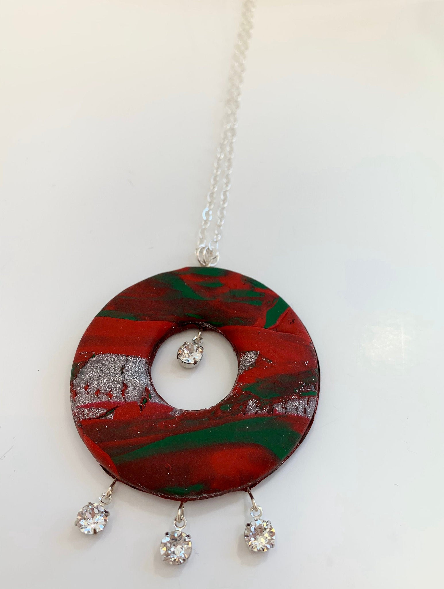 Abstract Geometric Christmas necklace