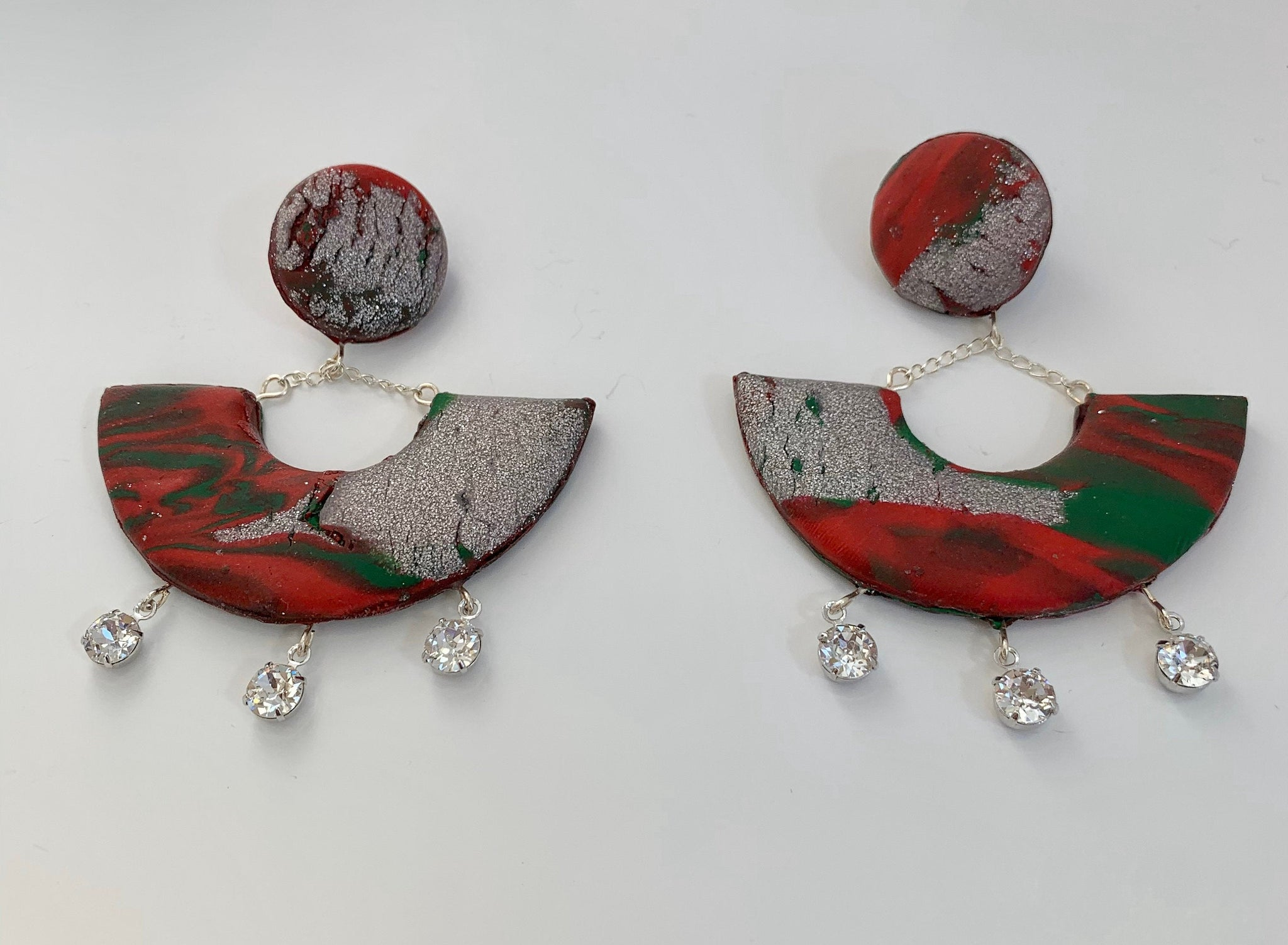 Abstract Geometric Christmas earrings