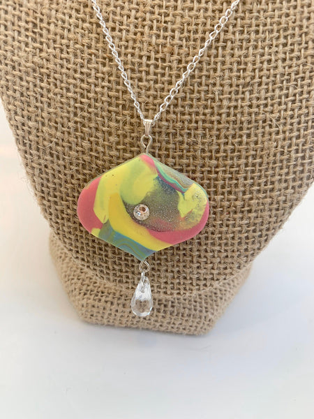 Pastel Rainbow long necklace