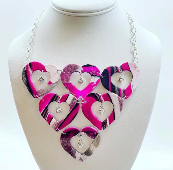 Open Heart Statement Necklace