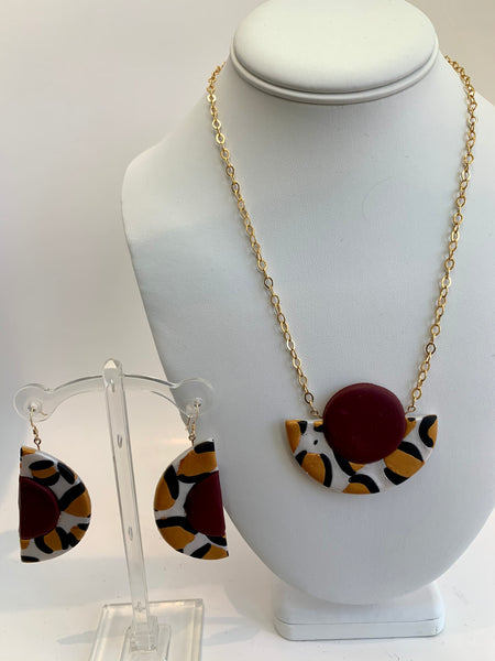 Geometric Leopard Necklace