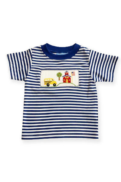 Back to School Smocked Boys Shirt