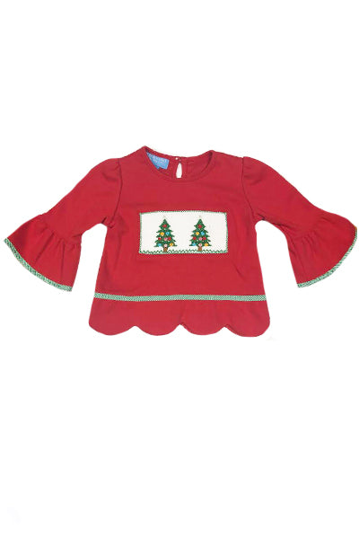Christmas Tree Smocked Top