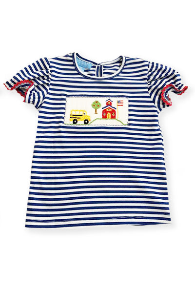 Back to School Smocked Girls Shirt