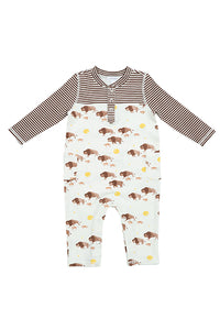 Bison Pocket Romper
