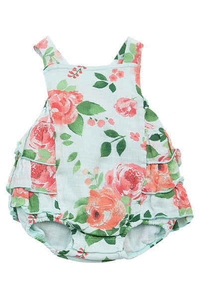 Rose Garden Ruffle Sunsuit