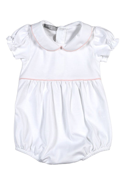 Baby Bliss White & Pink Collared Bubble