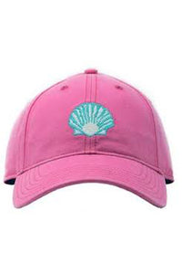 Scallop Needlepoint on Bright Pink Hat