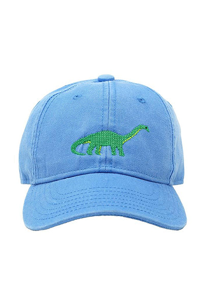 Brontosaurus Needlepoint on Light Blue Hat
