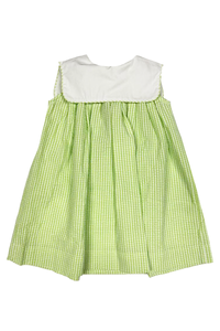 Lime Gingham Float Dress