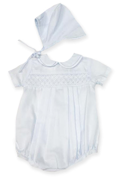 Geometric Smocked Collared Bubble