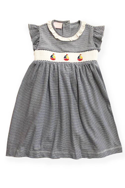 Smocked Sailboats Dress