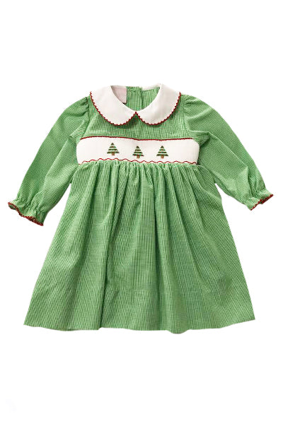 Oh Christmas Tree Smocked Dress