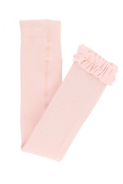 Ballet Pink Footless Ruffle Tights