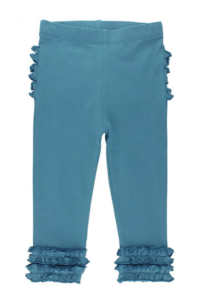 Ethereal Blue Ruffle Leggings