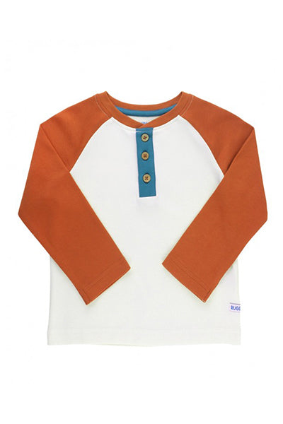 Orange Spice & Ivory Henley Tee
