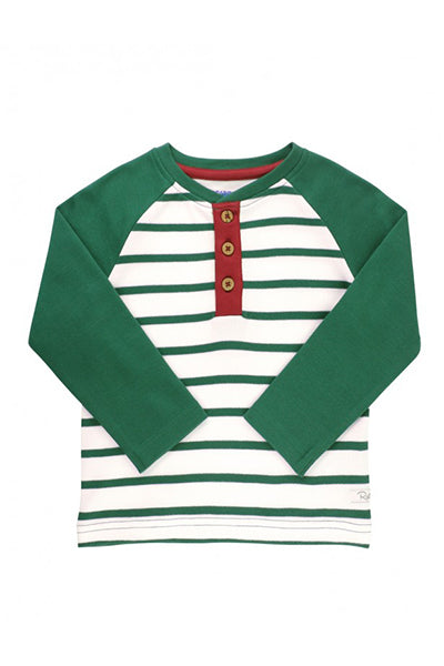 Pine Striped Henley Tee