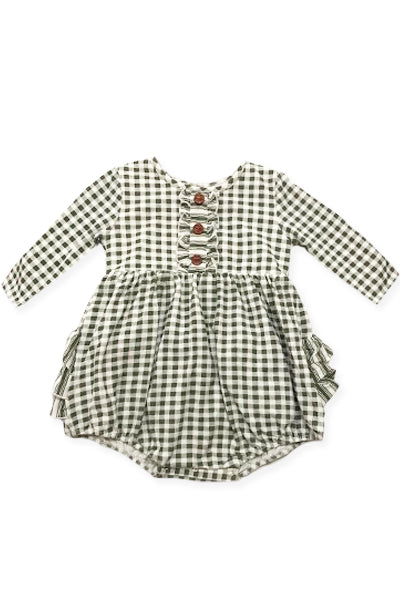 Olive Gingham Bubble