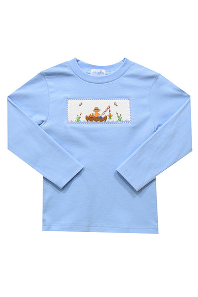 Fishing Day Smocked Shirt