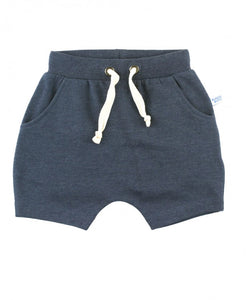 Heather Navy Jogger Shorts