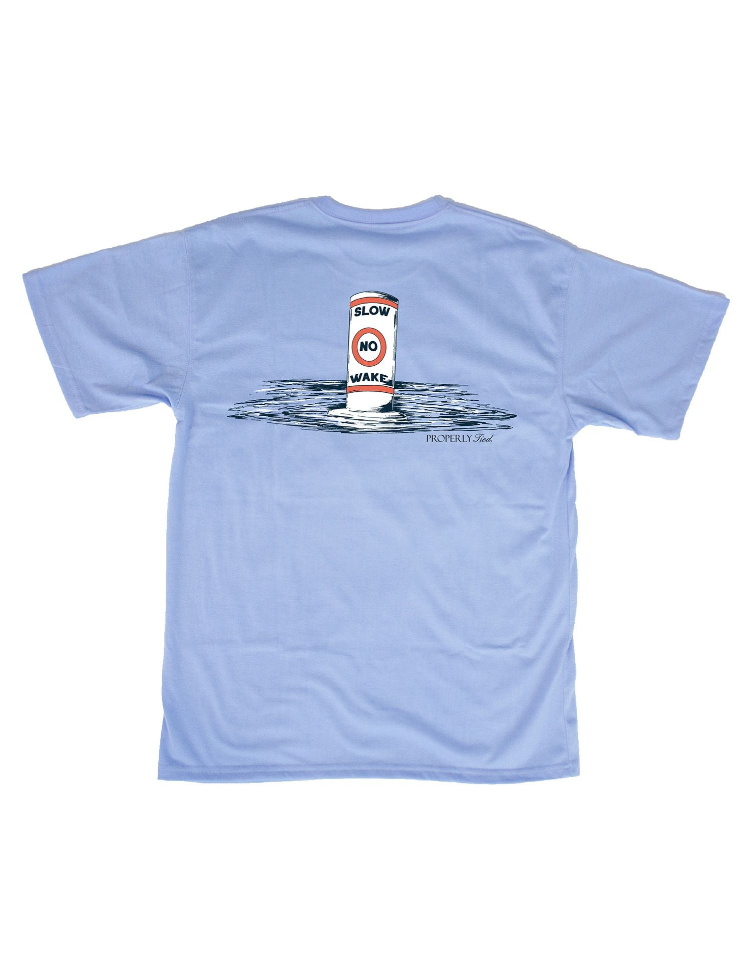 No Wake Light Blue Tee