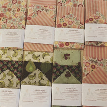 Load image into Gallery viewer, Beeswax Food Wraps - 1 package with 3 sizes