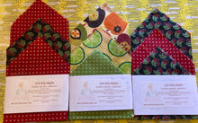 Load image into Gallery viewer, Beeswax Food Wraps - 1 package of Eco Wraps in 3 sizes - Rosie's Market
