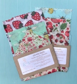 Beeswax Food Wraps - 1 package of Eco Wraps in 3 sizes - Rosie's Market