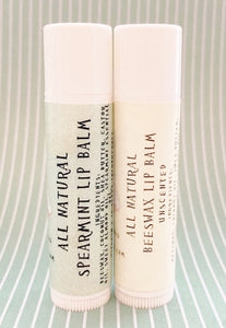 All Natural Beeswax Lip Balm - Rosie's Market