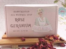 Load image into Gallery viewer, Rose Geranium Soap Bar All Natural Soy