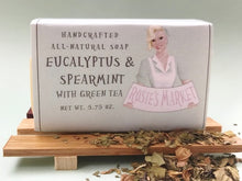Load image into Gallery viewer, Eucalyptus & Spearmint Green Tea Soap Bar All Natural and Handmade