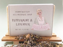 Load image into Gallery viewer, All Natural and Handmade Peppermint & Lavender Soap Bar