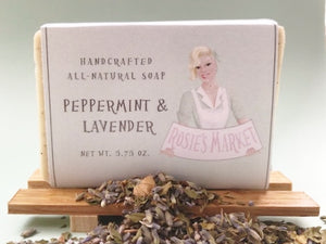 All Natural and Handmade Peppermint & Lavender Soap Bar