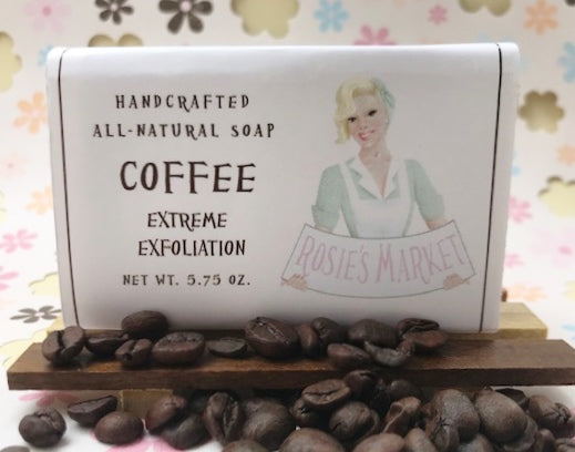 Coffee Soap Bar (Exfoliating + Unscented). All Natural and Handmade