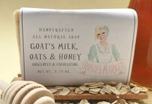 Load image into Gallery viewer, Goats Milk,  Oatmeal & Honey Soap Bar (Exfoliating + Unscented). - Rosie's Market