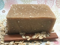 Honey Oatmeal Soap Bar (Exfoliating) All Natural and Handmade