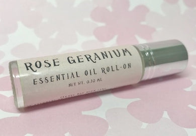 Rose Geranium Essential Oil Roll-On - Rosie's Market
