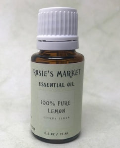 Lemon Essential Oil - 100% Pure & Therapeutic Grade - Rosie's Market