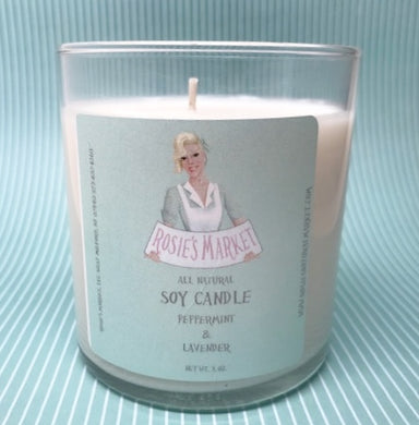 Peppermint Lavender Candle 8 oz. All natural Soy