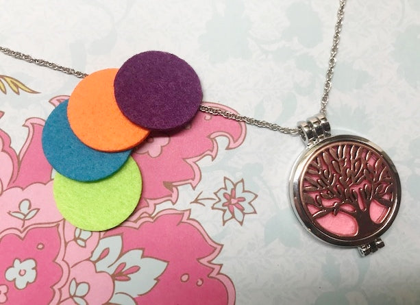 Tree of Life Aromatherapy Necklace for Essential Oils