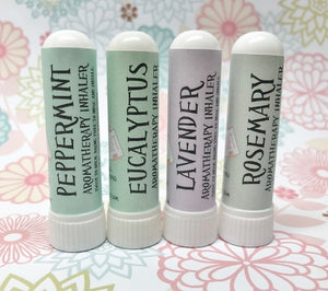 Aromatherapy Inhalers - 3 Mix N Match Peppermint Eucalyptus Lavender Rosemary