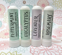 Load image into Gallery viewer, Aromatherapy Inhalers - 3 Mix N Match Peppermint Eucalyptus Lavender Rosemary