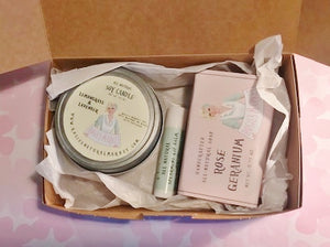 Adorable Gift Box - Handmade Soap & Candle with Inhaler
