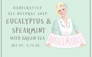 Eucalyptus & Spearmint Green Tea Soap Bar All Natural and Handmade