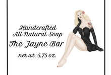 Load image into Gallery viewer, Pinup The Jayne All-Natural Handcrafted Soap Bar