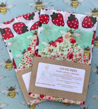 Load image into Gallery viewer, eco beeswax reusable food wraps