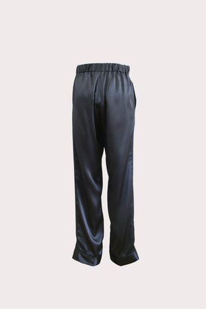 Katyusha Art Deco satin silk pants