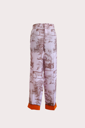 Katyusha Beasts of Earth twill silk pants