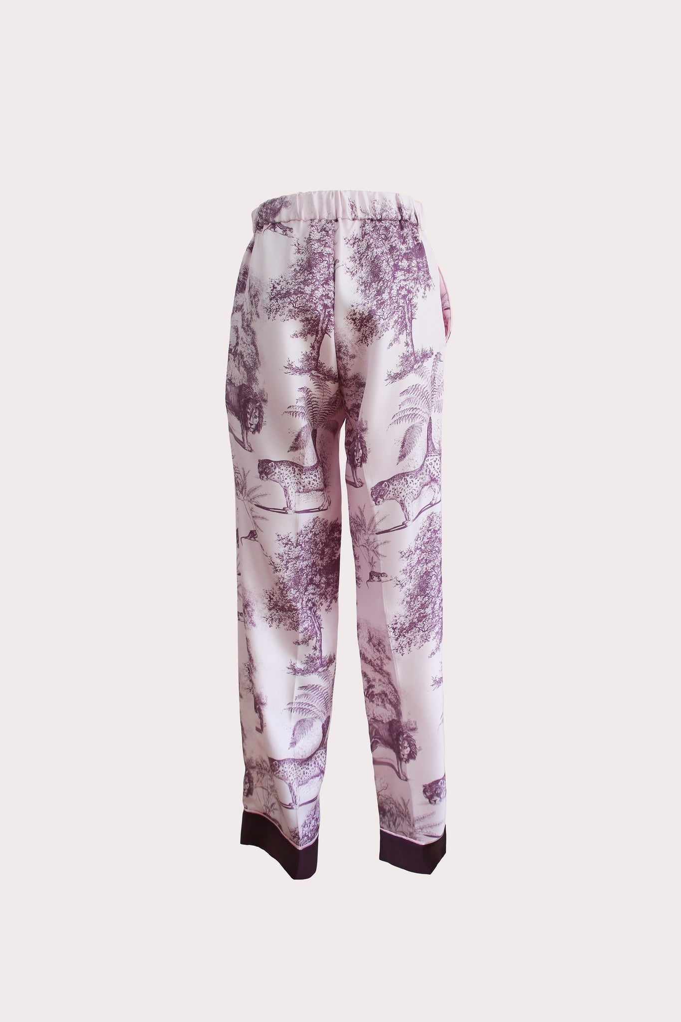 Katyusha Mauve Beasts twill silk pants